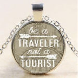 NEW Boho Be a Traveler Not a Tourist Necklace.